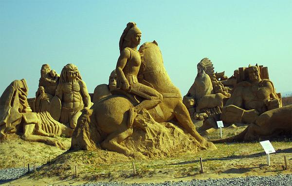 Festival u pravljenju figura od peska
