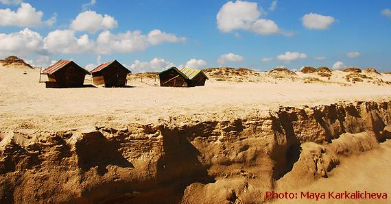 Peščane dine na plaži Perla