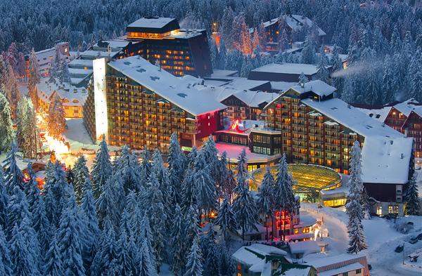 Hotel Rila u suton zimi